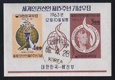 Korea 415a Used 1963 Eleanor Roosevelt Human Rights Declaration Souvenir Sheet