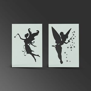 Fairy Stencil Fantasy Pixie Mylar Sheet Painting Wall Art Kid Bedroom 190 Micron