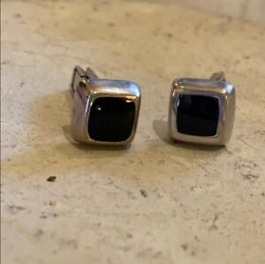 Silpada Sterling Silver Men's Cufflinks With Chalcedony Insets
