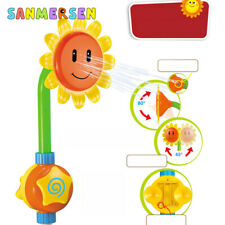 Kids Bath Toys Sunflower Water Spray Electric Circulation Pump Shower Head