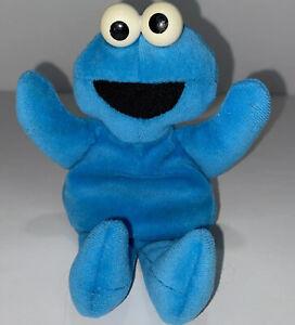 "VINTAGE Applause Sesame Street COOKIE MONSTER Bean Plush 7"" 1997 Jim Henson"