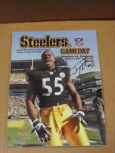 Joey Porter, Pgh Steelers, Signed Steelers GameDay Program, 2003 vs Cowboys