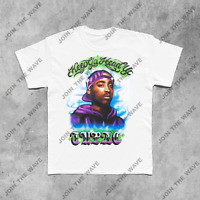 TUPAC T-SHIRT 2pac death row supreme vtg 90's rap hip hop tee biggie astroworld