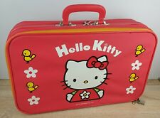 More details for vintage hello kitty suitcase rare 1999 pink flowers birds 16x11 carry on htf