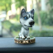 Bobble Head Siberian Husky Figurine w/ Perfume Base Car Home Ornaments Decor US
