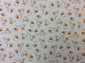 NT93 Retro Teddy Bear Cute Baby Shower Wrapping Paper Style Cotton Quilt Fabric