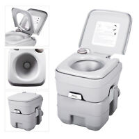 5 Gallon 20L Portable Toilet Flush Travel Camping Outdoor/Indoor Commode Potty