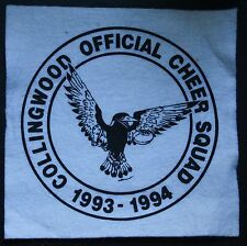 VINTAGE 1993-94 COLLINGWOOD OFFICIAL CHEER SQUAD CLOTH PATCH