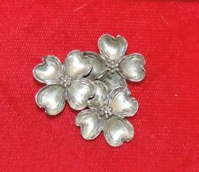 Vintage Beau Sterling Silver 3 Dogwoond Flower Brooch Pin Fb 36