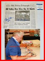 🔥 Tom Wilson Back To The Future Signed Hill Valley Newspaper Biff Beckett PSA