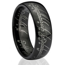 Tungsten Rings for Men Lord of the Celtic Rings Black Ring One Ring Mens Rings