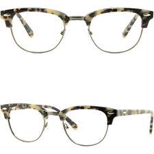Women Girl Browline Frame Acetate Glasses Eyeglasses Spring Hinges Tortoiseshell