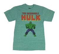 Marvel Comics The Incredible Hulk Avengers Retro Logo Mens T Shirt S-2XL