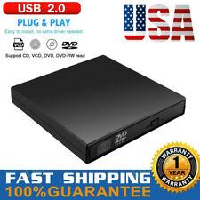 New listing External Usb 2.0 Dvd Drive Cd Rw Dvd-Rom Reader Player For Pc Laptop Mac Black