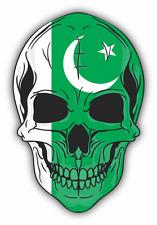 """Skull Flag Pakistan Car Bumper Sticker 4"""" x 5"""""""