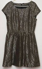 Vero Moda size 10 dress skater style in black & gold below knee  new tagged