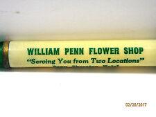 """Bakelite Adv. William Penn Flower Shop- Penn Sheraton Hotel Letter Opener 8 1/4"""""""