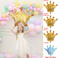 Huge Gold Crown Foil Helium Balloon Princess Birthday Party Wedding Xmas Decor