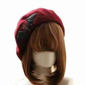 Gothic Lolita Girl's Bat Hand Skeleton Hat Beanie Cap Beret Painter Hat 4 Colors