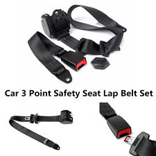 Automatic Retractable 3 Point Car Auto Truck Adjustable Safety Seat Lap Belt Kit