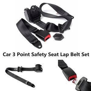 Automatic Retractable 3 Point Car Auto Truck Adjustable Safety Seat Lap Belt Kit