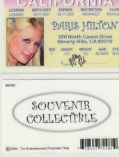 PARIS HILTON of HOTTIE NOTTIE / Bling Ring HILTON HOTELS  Drivers License