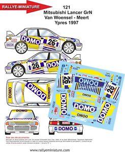 Decals 1/32 Ref 121 Mitsubishi Lancer Van Woensel Ypres Rally 1997 Rally