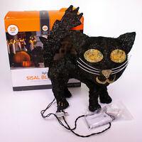 Halloween Lighted Sisal Black Cat Yard Porch Decoration