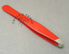 High Quality Slanted Red Eye Brow Tweezers Plucker 9 CM in Length Hair Removing
