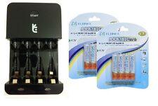 Uniross ECO Caricabatterie + 8 X AAA 1100 mAh batterie fujimax