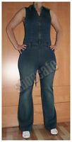 Vero Moda Jeansoverall Catsuit Jumpsuit blau stretch ärmellos (130878)