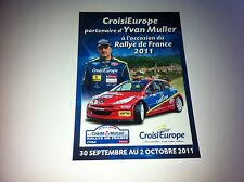 CP POSTCARD CARTOLINA PEUGEOT 207 MULLER RALLY RALLYE WRC 2011