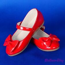 Bow Mary Janes Shoes Red Toddler US Size 8.5 Wedding Flower Girl Pageant GS011