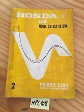 Honda SS125A CL125A SS CL 125 A parts liste pièce détachée édition 2 rare 1967