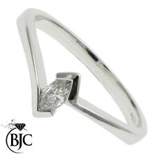 Marquise Engagement White Gold SI2 Fine Diamond Rings