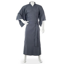 Mens Black Cotton Japanese Yukata