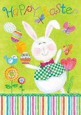 "Custom Decor EasterJuggling Bunny Garden Flag 12"" x 18"" - 2334FM"