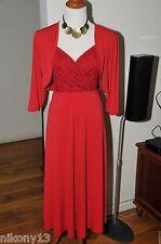 NWT Authentic Plus Size Designer IGIGI Cocktail Red Dress with Shrug, 12