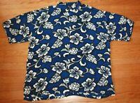 Vintage Hibiscus Collection Men's Hawaiian Floral Shirt Tiki XL