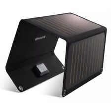RAVPower Solar Charger 21W Solar Panel with Dual USB Port Waterproof Foldable XS