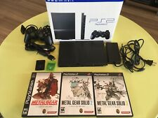 Sony Playstation 2 PS2 Slim Console + Memory Cards + Metal Gear Solid 123