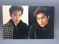 EXO SUHO Official For Life Album Photo Postcard x2 NEW AUTHENTIC