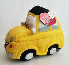 """Disney Pixar Luigi Fiat Yellow Car Plush Toy 11"""" Polyester NEW"""