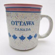 Ottawa Canada Coffee Mug VTG Souvenir - Speckled with Maple Leaf