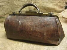 Vintage Leather Doctor Bag > Antique Bags Doctor's Nurse Medical Medicine 9250
