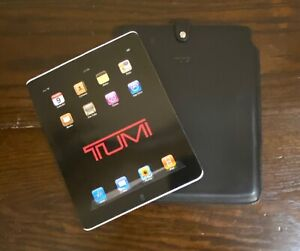 """NEW Tumi Black Leather Snap Case for iPad 10.25"""" x 9"""" x .25"""""""