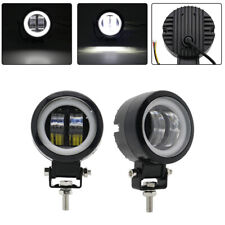 2 Pcs Round LED Spot Lights Car Motorcycle Off Road Driving Work Fog Lamp White