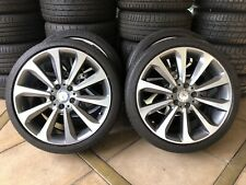 "(2014-2019) 19"" GENUINE OEM MERCEDES BENZ C-CLASS C250 W205 WHEELS & CONTI TYRES"
