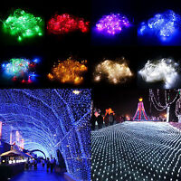 3M*2M 200LED Net Fairy String Lights Curtain Ceiling XMAS Wedding Outdoor Indoor