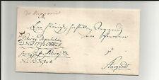 Preussen V. / de Wangerin, handschriftl. rot Postwärteraufg. auf Kabinett-Brief